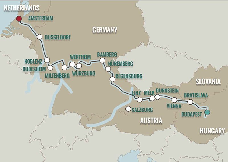 Budapest Christmas Markets Map.Js191118 Bud Ams Teeming River Cruises